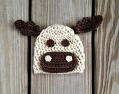 Instant Download - Moose Hat Crochet PATTERN - PDF - Newborn to 4 years - Holiday - Christmas - Reindeer - photography prop