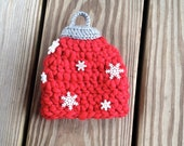 Instant Download - PDF Ornament Hat PATTERN 2 different styles- Christmas Crochet Pattern - Sizes newborn to adult - Photography prop