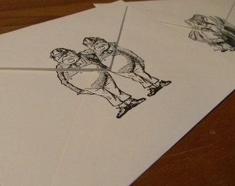Set of 8 Alice In Wonderland Note Cads & Envelopes
