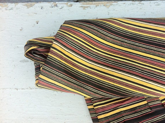Multi-Striped Vintage Fabric, 4 Yards, 100% Rayon