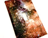 Single Light Switch Plate Cover--Galaxy Space