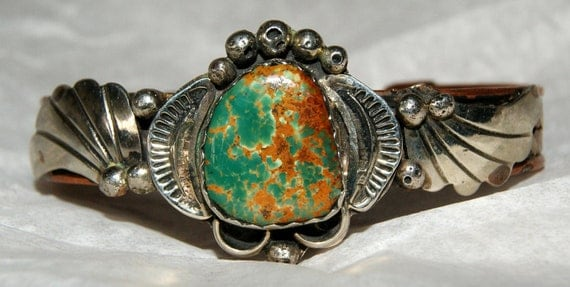 OLD PAWN CLEVELAND Navajo Cuff  c1970