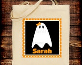 Halloween Girly Ghost Canvas Tote/ Bag