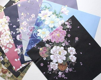 Origami paper pack, Kimono print japanese paper, floral origami paper, craft supplies,  scrapbook paper, summer craft projects