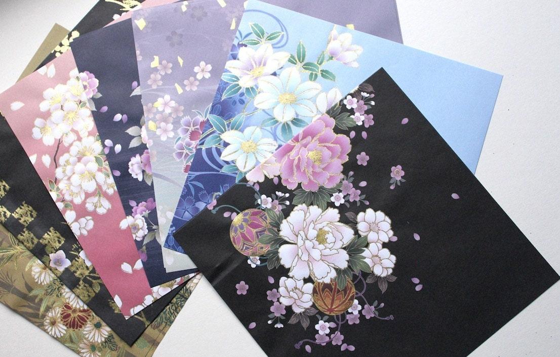Origami paper pack Kimono print japanese paper floral - photo#22
