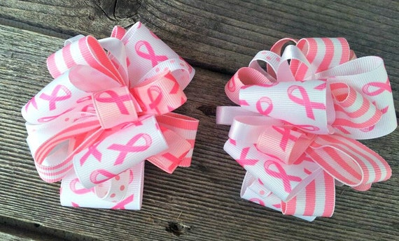 Breast Cancer Awareness Funky Loopy Bow Set