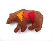 SALE Geometric triangles bear magnet, number 60