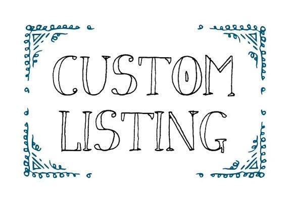 Custom Listing for Stephany Copeland