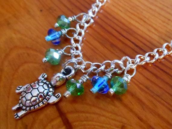 Ankle Bracelet - Anklet - Turtle Ankle Bracelet - ankle bracelet chain