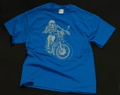 Skully Motorcycle Biker Shirt   - -  Adult Size - MEDIUM
