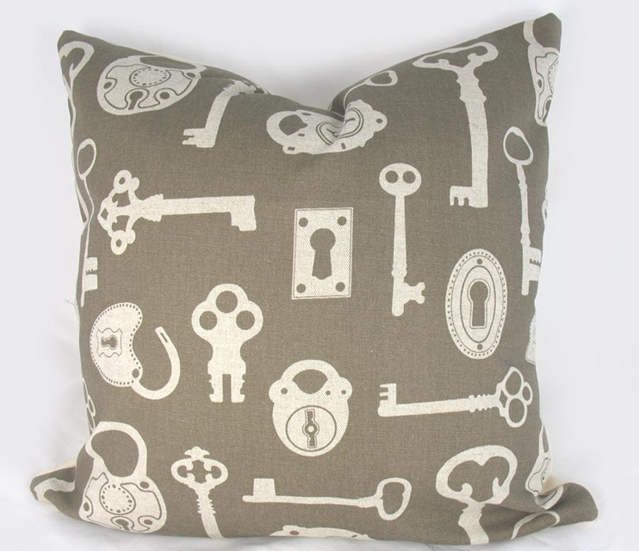 Keyes Decorative Pillow : Keys Decorative Pillow Cushion Cover Accent Pillow Khaki