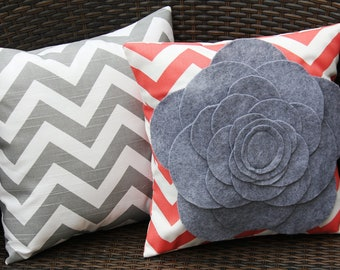 Coral Flower Pillow Cover 12x12