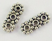100 pcs Antique Silver Spacer Bars, daisy with 3 Holes, 10.5x4.3mm, FREE SHIPPING to USA