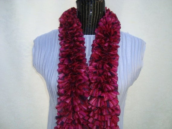 Scarf Knit. Pink.Mother's Day Gift.Ruffled.Sale.Bridemaids.Spring/Summer/Fall.Sparkle.Dressy.  Woman'sGift.Fashion.Mom.