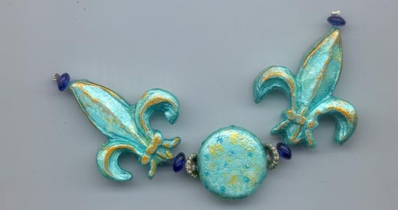 Beautiful polymer clay bead set made by the acclaimed Barcelona artist Montse
