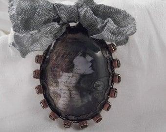 SALE ~ Antiqued Handmade Soldered Pendant ---SP-18