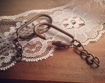 3 Pc - 65mm Key chain ANTIQUE BRONZE Chain Vintage Style Chain Jewelry Supplies