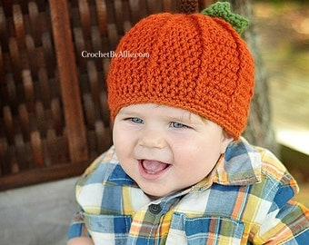 Pumpkin Hat, Crochet by Allie