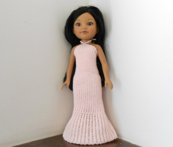 Hearts for Hearts Doll Clothes Beautiful Pink Knit Gown for