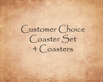 Four Coasters - Customer's Choice - Tile Coasters gift under 30 home decor 4 1/4 x 4 1/4 costers theartisangroup