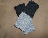 Black and Grey Boot Topper/Cuff