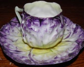1890's Pansy Flower Porcelain Tea Cup Set GREAT Free Shipping USA