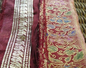 Silk Ribbon,Sari border,Sari Trim 2 colors, SR30