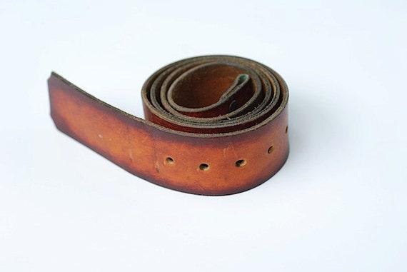 Vintage Two Tone Leather Belt, Leather Belt, Brass Hardware, Vintage Belt, Leather Vintage Belt, Accessory, Distressed Leather Belt