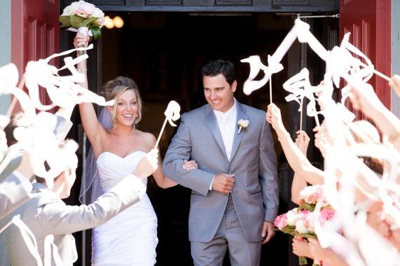 mariage ruban wands serpentins party jeu de 100 rubans doubles avec des cloches - Serpentin Mariage