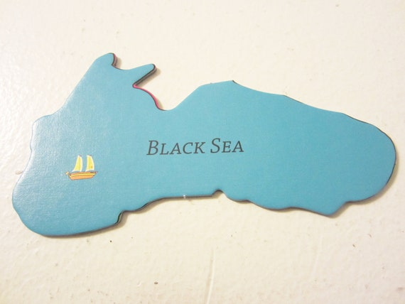 Black Sea Magnet, Europe Magnet, by theemae74 on etsy