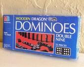 Wooden Double Nine Dominoes - Complete Set in Original Box SALE PRICE