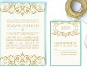 Modern Wedding Invitation, Modern Motif