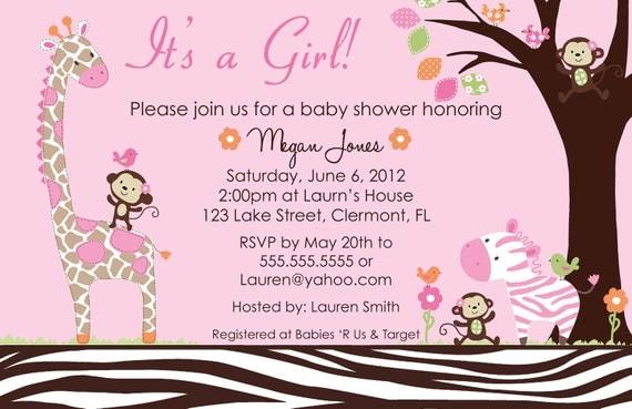 Carter selva Jill Digital Baby Shower invitación por BDesigns4You