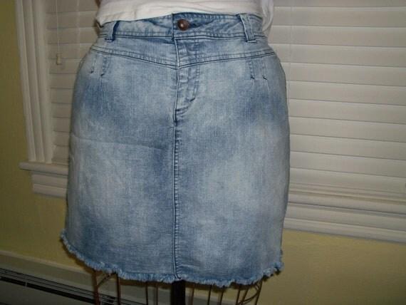 plus size retro acid wash denim mini jean skirt size 20 w free