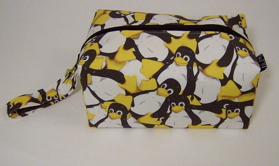 Small Zippered Project Bag - Tux the Linux Penguin