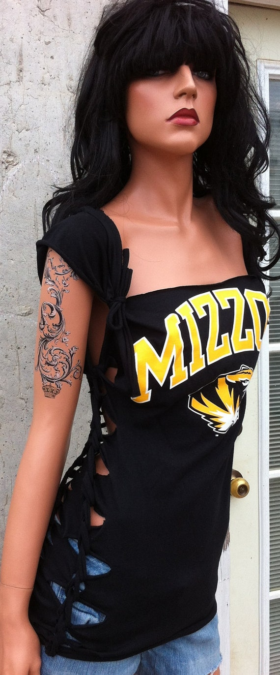 Mizzou Shredded Shirt