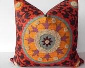Suzani 3Park 20X20 Tribal Print Pillow Cover Designer Home Decor Fabric-Throw Pillow-Accent Pillow-Designer Pillow-Throw Pillow