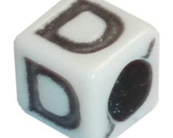 """Square Alphabet Letter """"D"""""""
