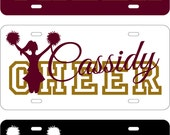 Personalized CHEER License Plate Sign