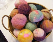 OOAK Chemical Free All Natural Solid Wool No Yarn Dryer Balls(pack of 4 variety)