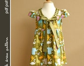 Stella Dress - PDF Pattern - Size 12 months to 8 years old and tutorial, PDF Downloadable, Easy Pattern