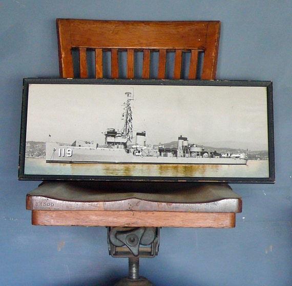 Large Framed Vintage USS Sustain AM-119