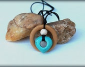 Nursing Necklace, Turquoise Heart