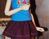MNF Mini Skirt - Violet Dots
