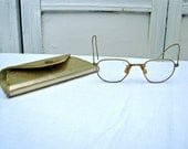 SALE! 1/2 Price! Antique Womens Wire Eye Glasses Frames - Vintage Gold Filled Wire Eyeglasses - Great Halloween or Other Prop
