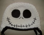 Jack Skellington  Nightmare Before Christmas Crocheted Hat