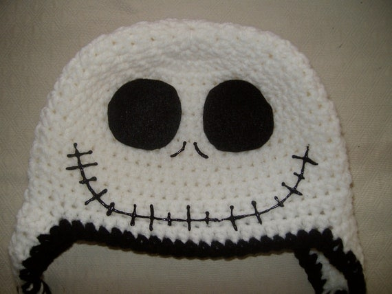 Crochet Pattern For Jack Skellington Hat : Jack Skellington Nightmare Before Christmas Crocheted Hat