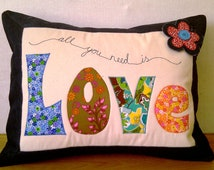 """PDF Pattern for Applique Cushions (Approx. 18"""" x 14"""") Level: Intermediate"""