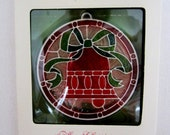 Hallmark Stained Glass Bell Tiffany Classic 350QX2002 circa 1977 in ORIGINAL BOX
