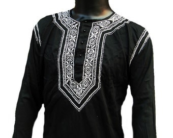 Kurta,long kurta,indian kurta,traditional wear,viking tunic,ethnic clothing,fall dress,indian fabric,salwar kameez,embroidered shirt top